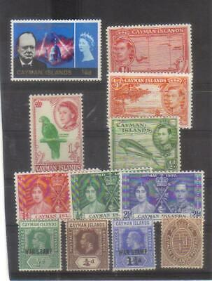 10557-Cayman Islands, British Colonies, collection of MH stamps.