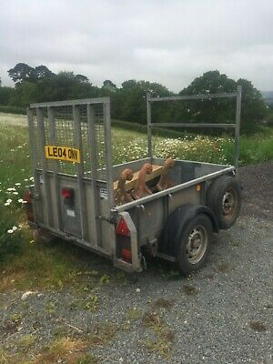 Ifor Williams GD84 single axle trailer with loading ramp and legs