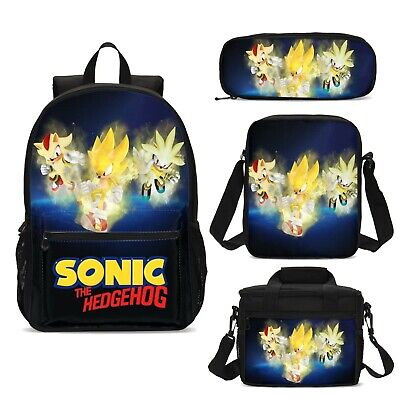The Hedgehog Sonic Kids Schoolbag Boys Backpack Insulated Lunch Bag Pen Case Lot 6 99 Picclick Uk