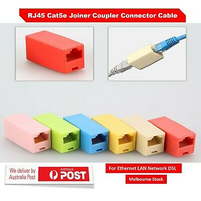 Coupler Cat 5e Joiner Connector RJ45 For Internet Network LAN DSL Cable Extender