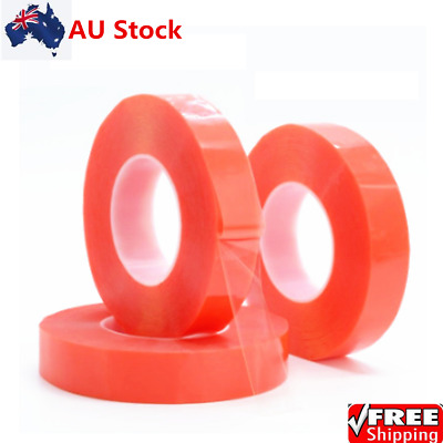 2Rolls Transparent Double Sided Tape Household Wall Hangings Adhesive Glue Tapes