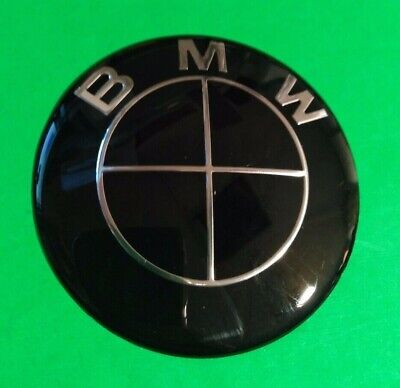 78mm ALUMINIUM EMBLEM ONLY FOR FRONT OR REAR (82MM) BADGES FOR BMW- FULL BLACK