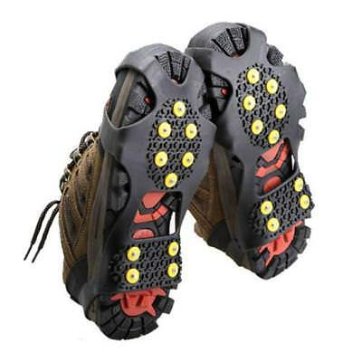 Winter Ice Grippers Snow Anti Slip Grips Spikes Cleat Crampon Boots Overshoes FA