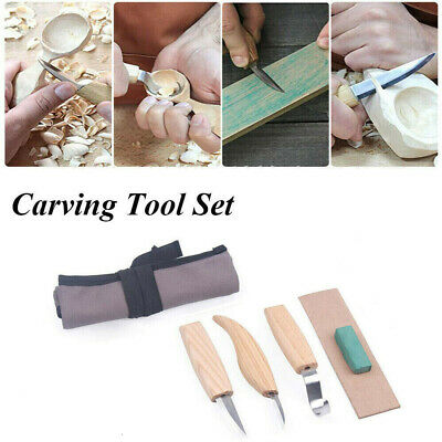 5x Wood Carving Knife DIY Chisel Woodworking Cutter Chip Hand Tool Kit New UK