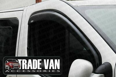 Vauxhall Vivaro Wind Deflectors Pair Rain Window Visors Dark Tinted 2001-13