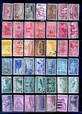 1932-1957 U.S. 3 Cent 155 Different Stamps Commemoratives Lot Used