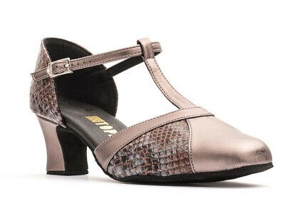 Ladies Ballroom Dance Shoes IVY Python Grey All Sizes By Topline SLIGHT SECONDS