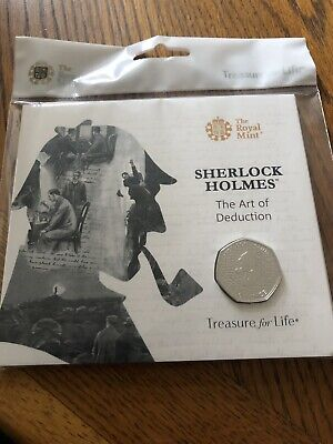 2019 Sherlock Holmes Brilliant Uncirculated 50p Coin Pack By The Royal Mint