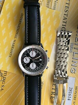 Breitling Navitimer A13322 Men's Wrist Watch Old Style Automatic Blue Dial