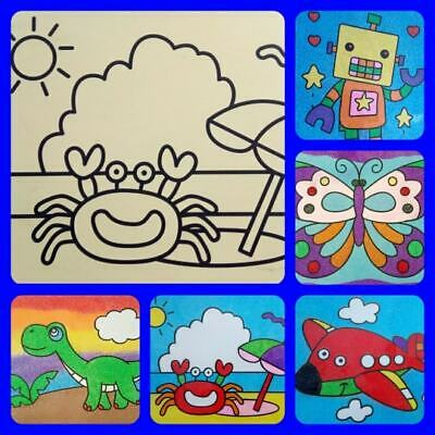 A4 Sand Art picture kits, self adhesive picture board, sand Painting colour sand