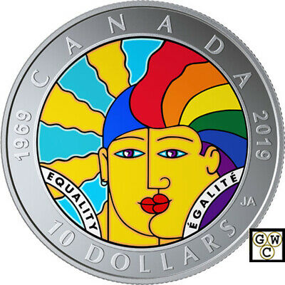 2019 'Equality' Proof $10 Silver Coin .9999 Fine (18732) (NT)