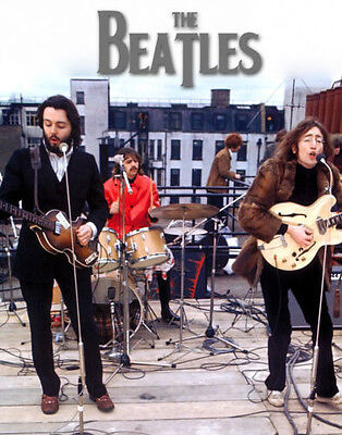 """The Beatles Rooftop Let it be Photo Print 8 x 10"""""""