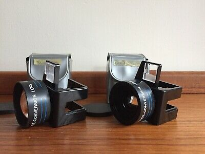 Vintage Focal Auxiliary Lens Set Telephoto & Wide-angle for Kodak Disc Cameras