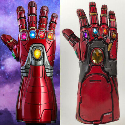 For Avengers 4 Endgame Iron Man Infinity Gauntlet Cosplay Arm Latex Gloves