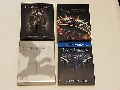 Blu-Ray Game of Thrones Complete Season 1,2,3,4 First,Second,Third,Fourth Lot 4