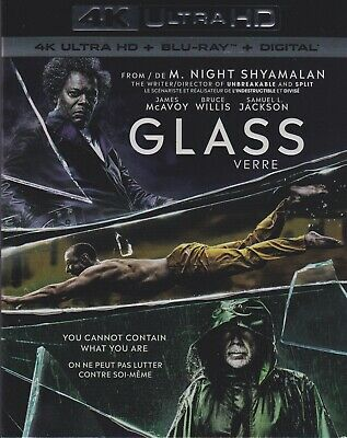 GLASS 4K ULTRA HD & BLURAY & DIGITAL SET with James McAvoy & Samuel L. Jackson