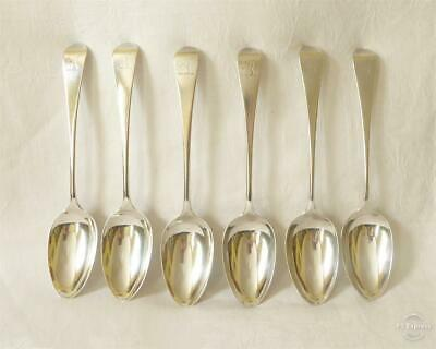 Set Of Six Antique 18Th C Georgian Silver Table Spoons Hallmarked London 1790