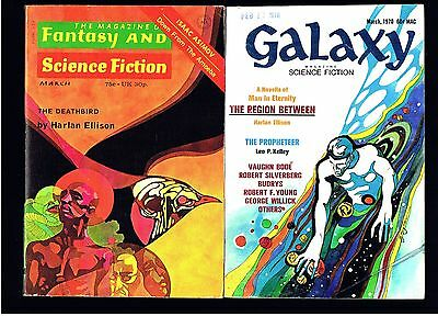Fantasy & Science Fiction + Galaxy Digest Lot~ Harlan Ellison ~ Ex Cond