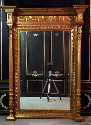 Gold Victoria Extra Large Mantle/table Mirror. 1880's.