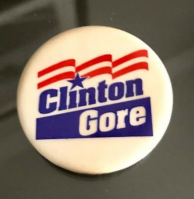 Clinton Gore  for President - 1992 Campaign Pin