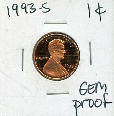1993-S 1c Proof United States Lincoln Memorial Cent BH696