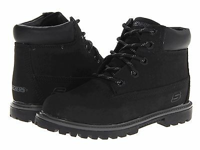 NEW Skechers Toddler Boys/' Mecca Brazenly Black Hiking Boots 170A
