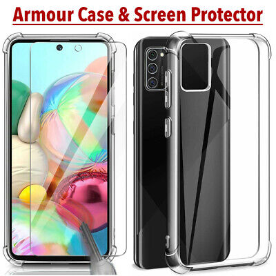 For Samsung Galaxy A10 A20e A40 A50 A70 Shockproof Clear Case & Screen Protector