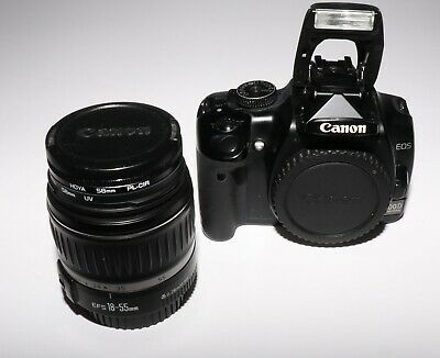 Canon EOS 400d DSLR 10.1 MP Camera + EFS 18-55mm Lens with  two Hoya Filters