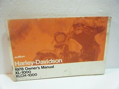 1978 Harley-Davidson Owner's Manual, Xl-1000, Xlch-1000, Vintage