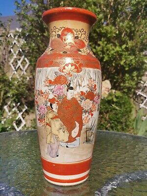 Antique c1880 Japanese Signed Kutani  Large Porcelain Vase