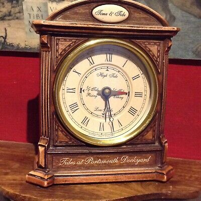 Antique style tyde mantle clock(Resin,collectable)