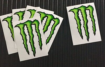 5 five 3x4 MONSTER ENERGY decals stickers