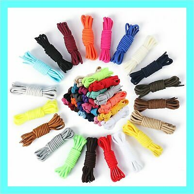 Colorful Shoe Laces Bootlace Shoelaces Sneakers Runners Coloured Flat and Round