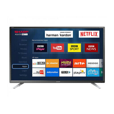 "Sharp 32"" Inch Smart LED TV HD Ready with Freeview HD and USB + Wi-Fi"
