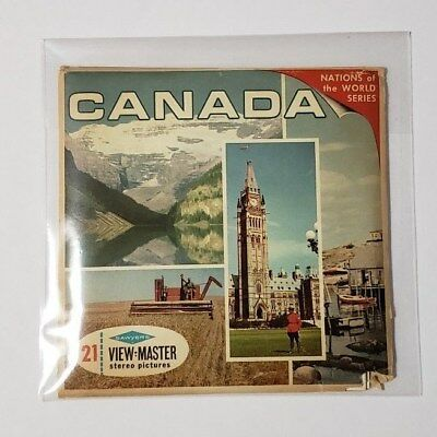 Canada 3 Reel Set Packet A090 Sawyers ViewMaster Rare World Travel