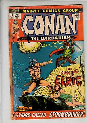 """CONAN THE BARBARIAN  #14  Marvel 1972 - """"the Coming of Elric""""  Barry Smith"""