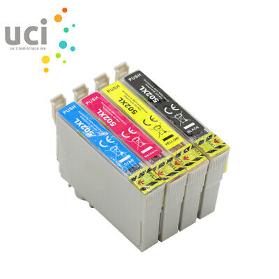 4 Ink Cartridge UCI® Epson WF-2860DWF WF-2865DWF XP5100 XP5105 502XL Non-OEM