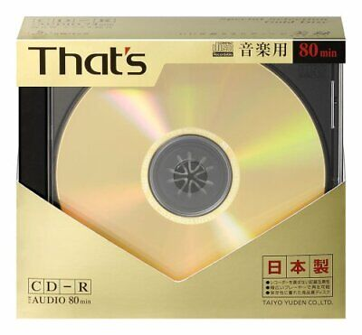 New 5 TAIYO YUDEN Blank CDR for Audio Music 80min From japan