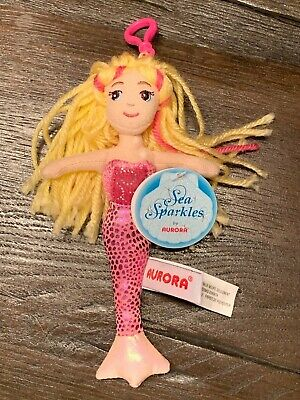 "Aurora Sea Sparkle Marina Clip-ons - Plush 6.5"" - Party Favor - New With Tags"