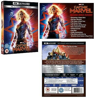 CAPTAIN MARVEL (2019): Brie Larson, Action, Adventure, Sci-Fi  RgFree 4K+BLU-RAY
