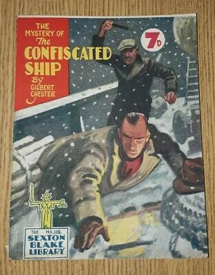 Sexton Blake Library 3rd Series No 110 comic magazine war crime thriller vintage