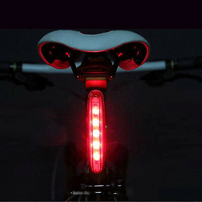 New Cycling Night Super Bright Red 5LED Rear Tail Light Bike Bicycle 4Modes Lamp