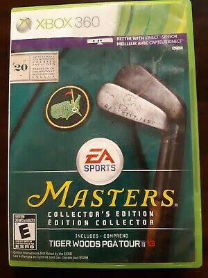 Tiger Woods PGA Tour 13 -- Masters Collector's Edition (Microsoft Xbox 360, 201…