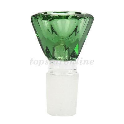 14mm/18mm Male Hexagon Glass Slide Bowl Free Screens USA Fast Free Shipping