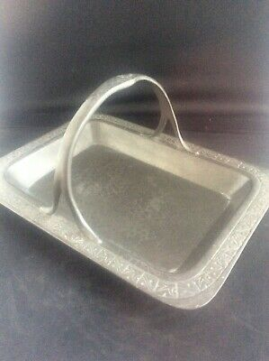 Arts & Crafts Solkets William Haseler English Pewter Tray LIBERTY & CO London