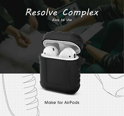 Shockproof Silicone Case Cover Protective Skin for airpods 1/2  + Key Chain