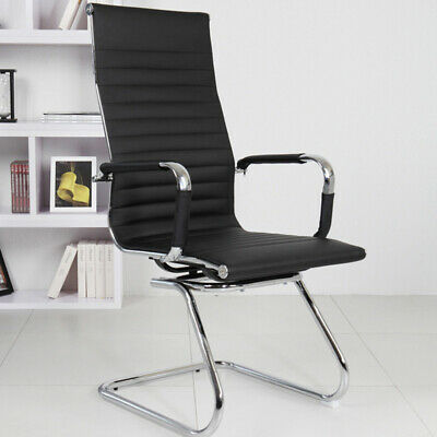 Office Chair Executive PU Leather Sport Computer Desk Chair Seat Black High Back