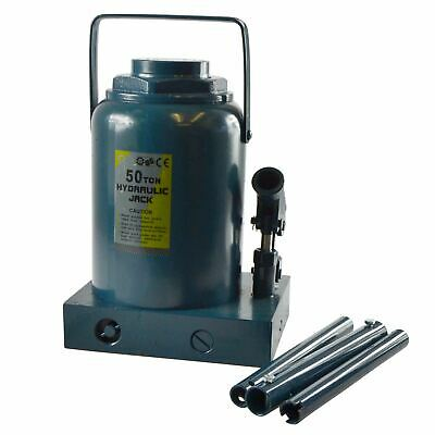 50ton Telescopic Hydraulic Bottle Jack Lifting Ram Tractors Trucks hgv Lift TE