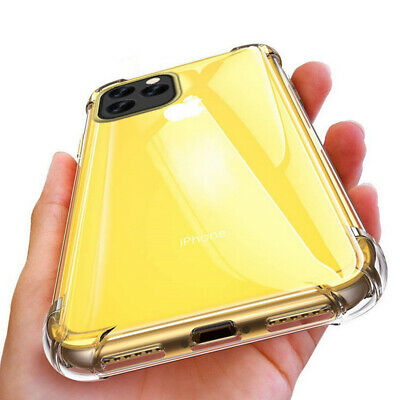 Shockproof Clear Protective Edge Silicone Case Cover For iPhone 11 Pro Max XR XS