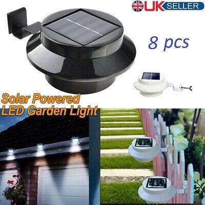 Solar Powered Led Gutter Wall Fence Lights Outdoor Roof Garden Gutter Lights Uk
